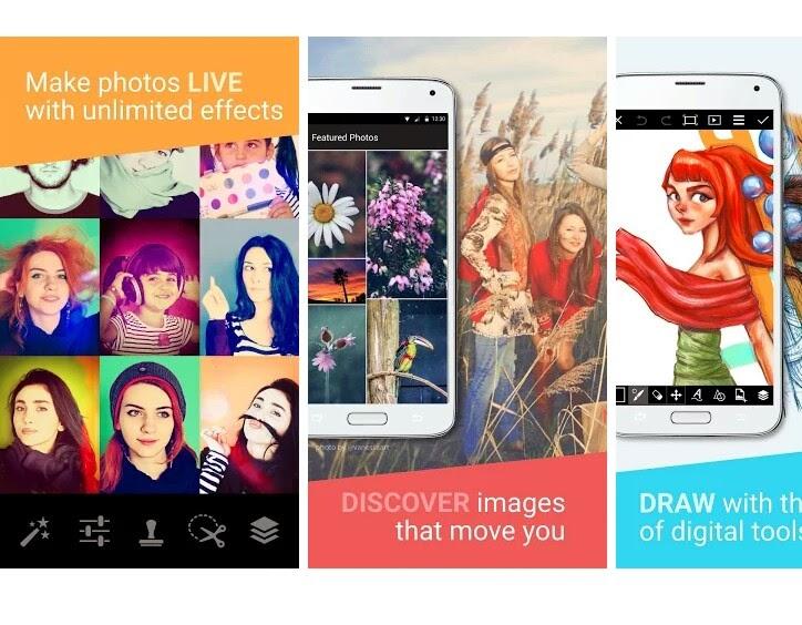 aplikasi edit foto gratis di android, download aplikasi edit foto picsart